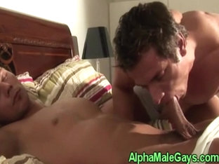 Gay hunky duo sucking dick in the shower