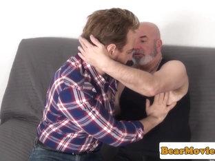 Pierced bear Sam Black rimming and assfucking