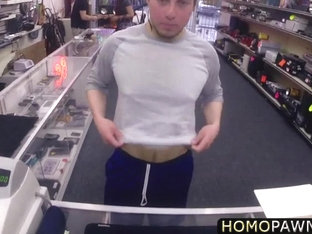 Absolutely straight dude suck prick in the shop and gets reamed in the ass