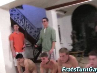 Teen straighties go gay for college hazing