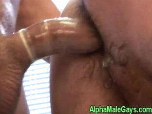 Gay hunk fucks and cums on muscular pal