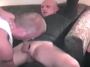 Young Stud Broken In By Two Older Men