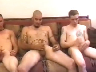 hot youthful guys jacking off solo and together