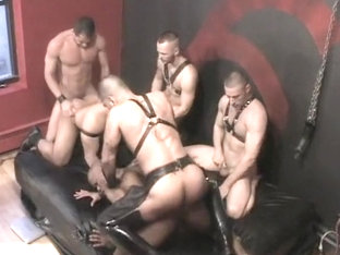 Horny amateur gay video with Bondage, Domination scenes