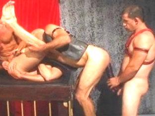Incredible male pornstars Max Paxx, David Griffin and Brad Benton in horny bondage, leather homo s.