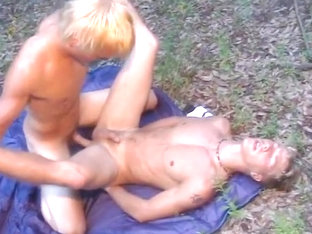Young Stud Is Ass Plundered In Forest
